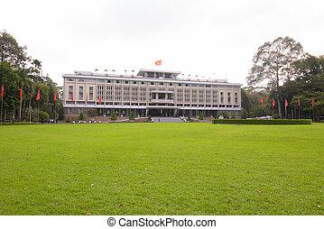 minh, 城市, 宮殿, chi, 越南, ho, 重新統一