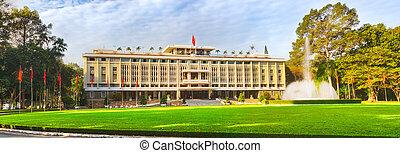minh, 城市, 宮殿, chi, ho, 全景, vietnam., 獨立