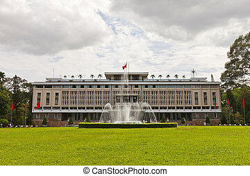 minh, 城市, palace., 越南, ho, chi, 重新統一