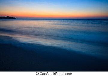 minimalistic, 海景, 黃昏