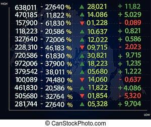 monitor., 數据, concept., 金融, 財政
