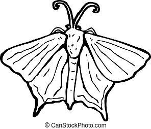 moth, 卡通