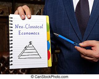 neo古典, notepad., 經濟, 白色, 概念, 事務, 題字, 大約
