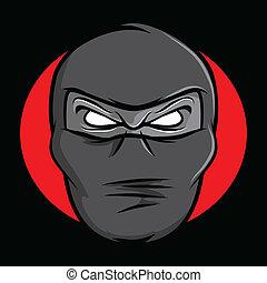 ninja, 臉