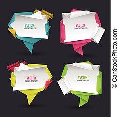 origami, 摘要, 現代, 演說, 集合