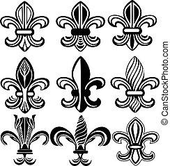 orleans, 符號, lis, fleur, 新, de