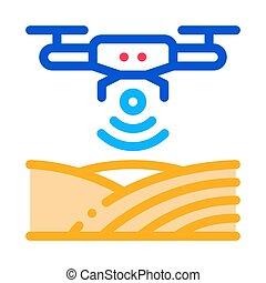 outline, 矢量, 雄峰, 插圖, 信號, wi-fi, 圖象