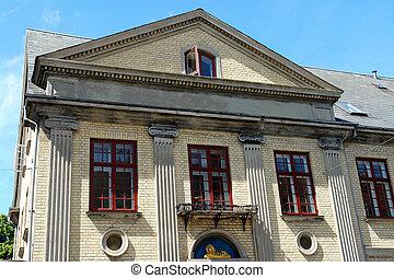 palladian, 房子, neo, 風格, 建筑學古典