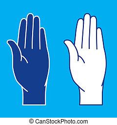palms., illustration.