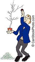 parses, 樹, 聖誕節, 人