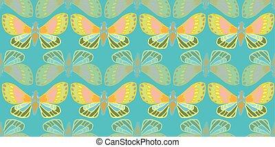 pattern., 叢林, 外來, 蝴蝶