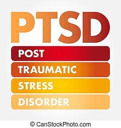 posttraumatic, -, 混亂, 壓力, 縮寫, ptsd