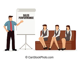 presentation., 給, 事務, 教練, 發言者