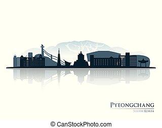 pyeongchang, 反映。, 地平線輪廓