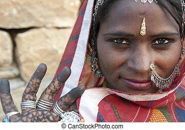 rajasthani, 婦女肖像, 印度