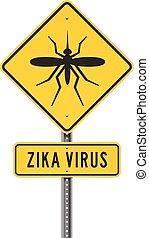 roadsign, 病毒, zika