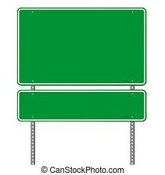 roadsign, 綠色, 空白