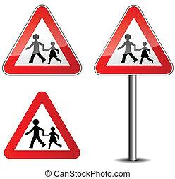 roadsign, childrens