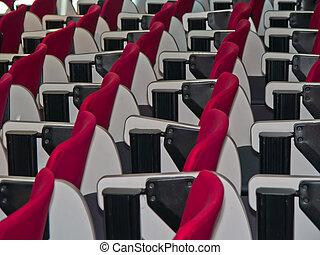 room., 椅子, 線, 紅色, 會議