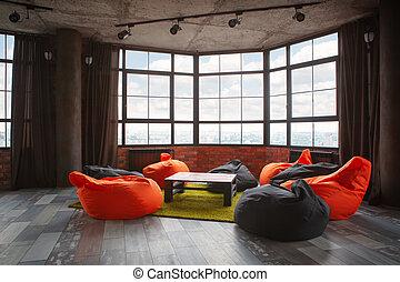 room., 生活, 內部, 現代, 設計