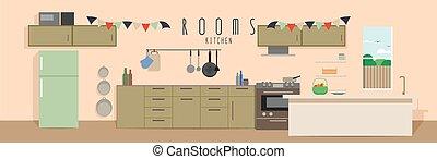 (rooms), 廚房