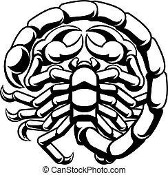 scorpio, 黃道帶, 蠍子, 占星術徵候