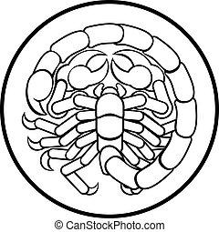 scorpio, 黃道帶, 蠍子, 星象徵候