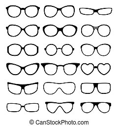 set., 矢量, 眼鏡