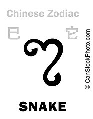 (sign, zodiac), 蛇, astrology:, 漢語