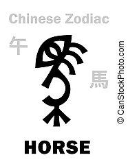(sign, zodiac), 馬, 漢語, astrology: