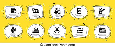 signs., 圖象, included, 矢量, set., checkbox, 打字机, 圖象, 教育, 日曆