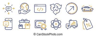 sms., 矢量, 再循環, 這樣, 集合, 圖象, 方向, 事務