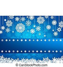 snowflake., 8, eps, 卡片, 聖誕節
