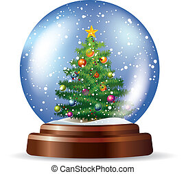 snowglobe, 樹, 聖誕節