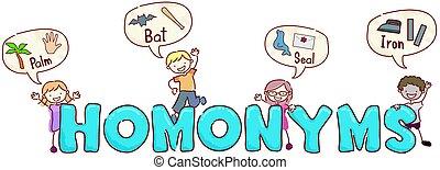 stickman, 孩子, homonyms