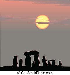 stonehenge, 黃昏