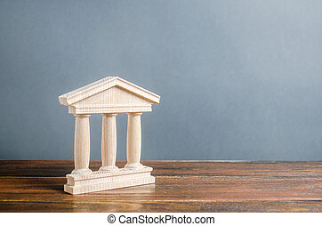 style., library., 庭院, 教育, 銀行業務, government., 古董, 小雕像, town., 大學, 管理, 銀行, 部份, 城市, 紀念碑, 建筑, 老概念, 柱子, 建築物, 或者