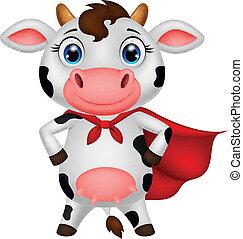 superhero, 矯柔造作, 卡通, 母牛