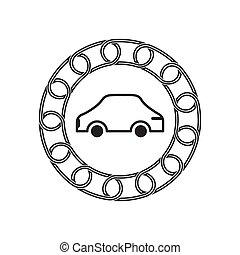 technology., 汽車, concept., blockchain, 未來, 圖象