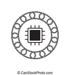 technology., concept., blockchain, 未來, chipset, 圖象