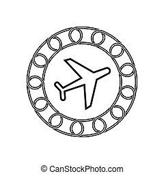 technology., concept., blockchain, 飛機, 未來, 圖象
