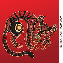 tiger, 漢語, horoscope., 年