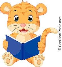tiger, 讀書