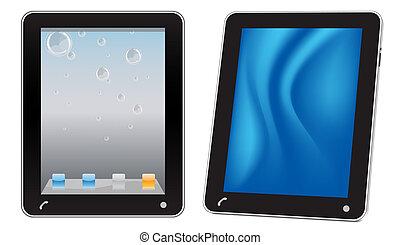 touchscreen, 電腦, 片劑