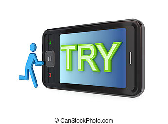 try., 流動, 現代, 電話, 大, 詞