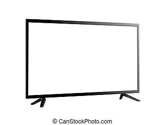 tv 屏幕, 被隔离, 矢量, 空白, 白色