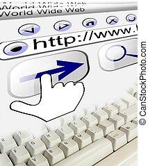 url, 連接, 背景, 網際網路, 鍵盤, 技術