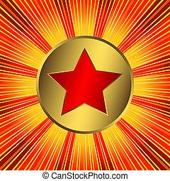 (vector), 背景, 摘要, 星, 紅色, 橙