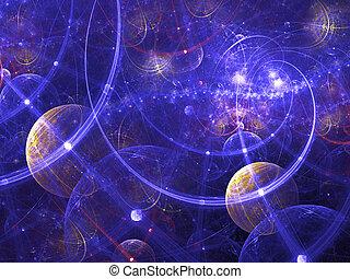 wallpaper., 提供, 在數字上, image., 摘要, 好, 背景, 分數維, 或者, 星系