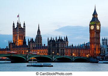 westminster, 大, england, ben, 倫敦